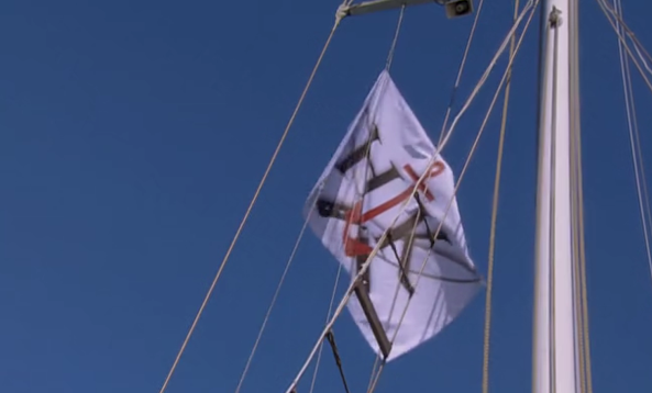loving the nautical H-Anchor-K flag!