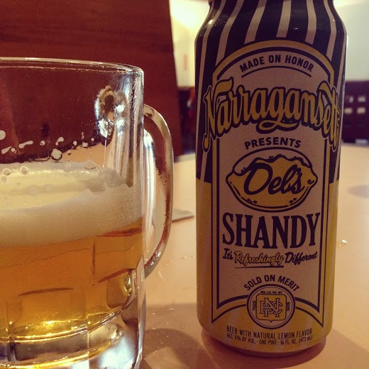 Two of my summer favorites together!  This shandy is lemony and refreshing.