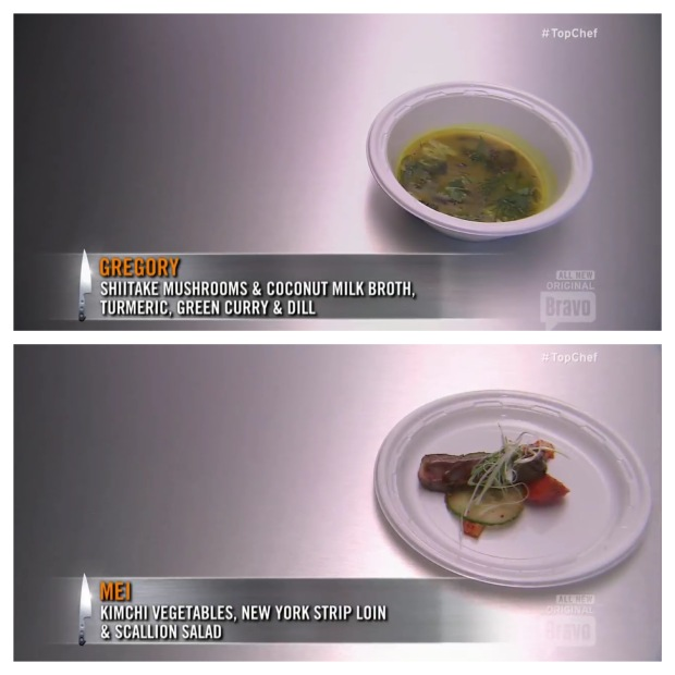Again, both dishes are well received.  Gregory is just unstoppable in this episode, and wins another battle for Blue.