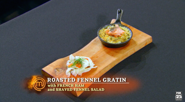 "His appetizer is ""not perfectly executed"" in Graham's assessment, but Gordon praises the idea and the flavors."