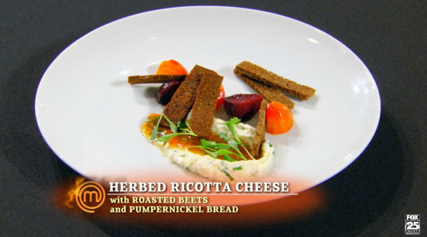 "Joe calls his appetizer ""professionally executed,"" and Graham praises the work he put in to his homemade ricotta."