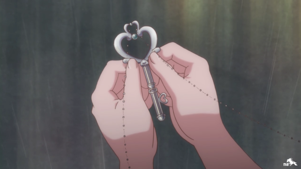The girls conclude that Chibiusa is the key to this Black Moon mystery.  Kind of spot on, eh?