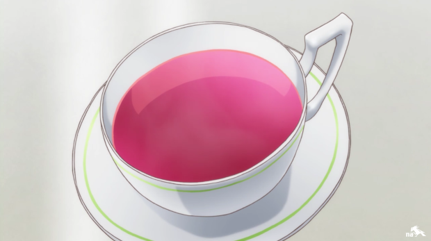 This rose tea is so perfectly Makoto!