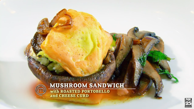 Stephen, who used mushrooms five ways in this preparation. The urban gardener thrived in this challenge.